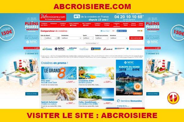 Site internet : Abcroisiere
