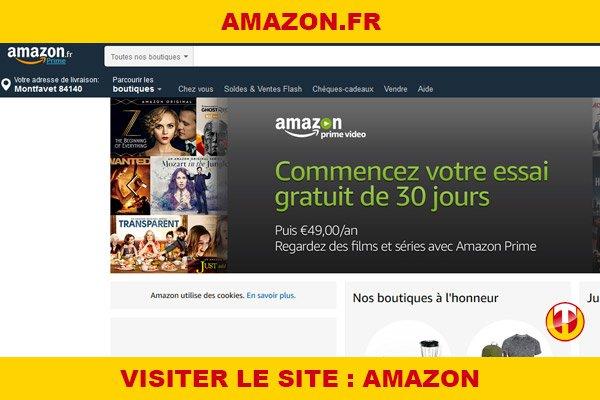 Site internet : Amazon
