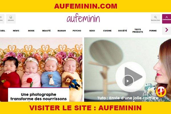 Site internet : Aufeminin
