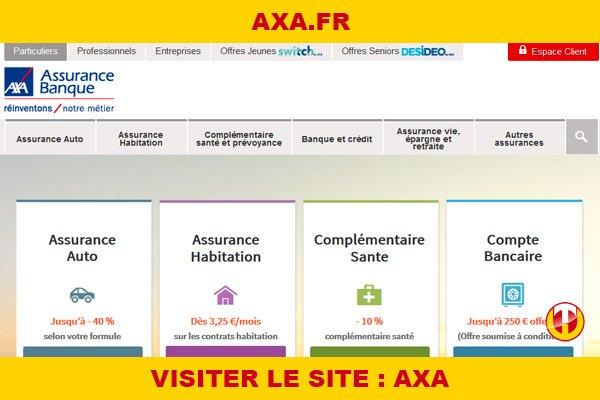 Site internet : Axa