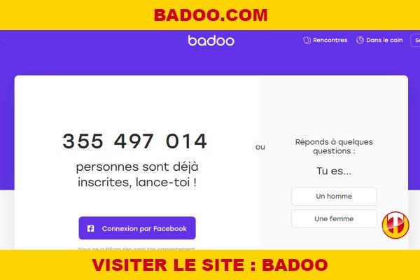 Site internet : Badoo