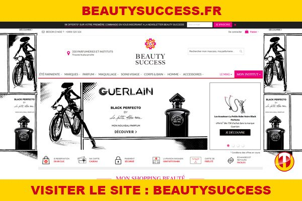 Site internet : Beautysuccess