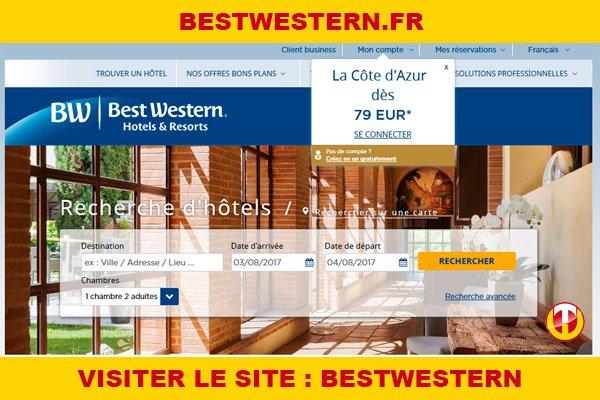 Site internet : Bestwestern
