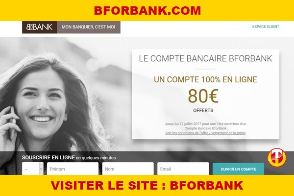 Site internet : Bforbank
