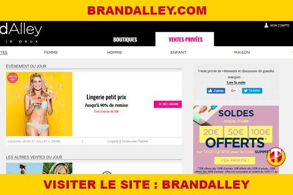 Site internet : Brandalley