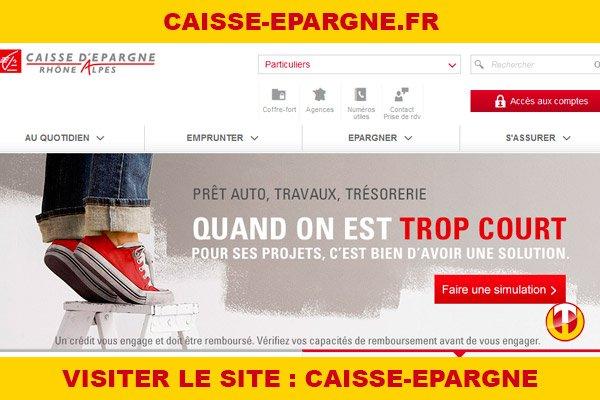 Site internet : Caisse-epargne