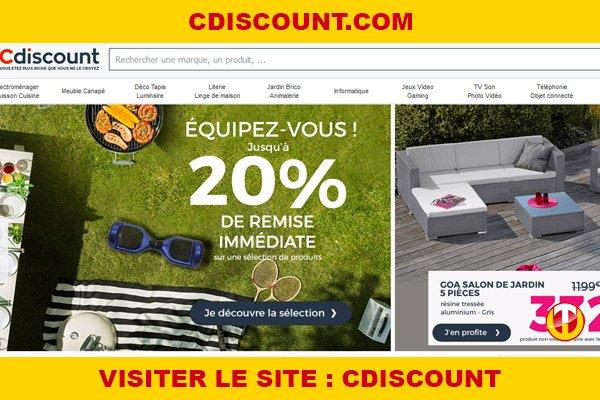 Site internet : Cdiscount