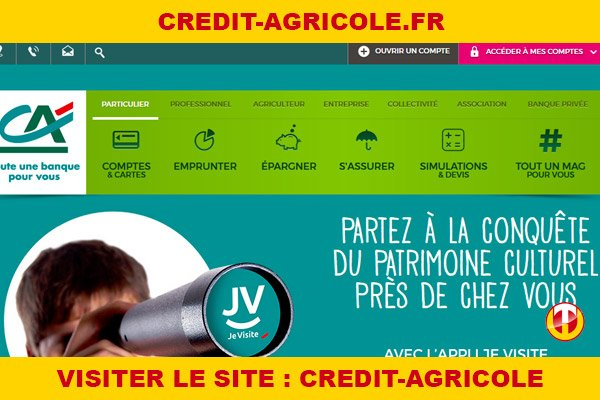 Site internet : Credit-agricole