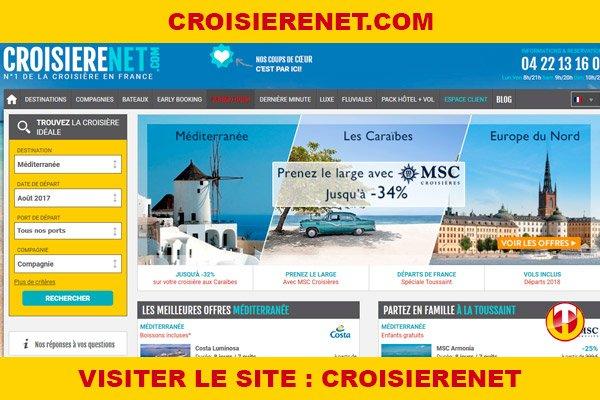 Site internet : Croisierenet