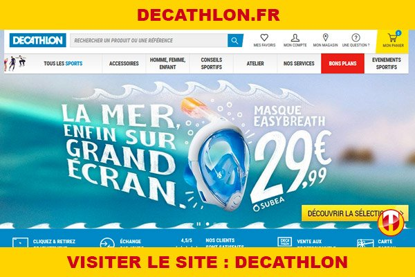 Site internet : Decathlon
