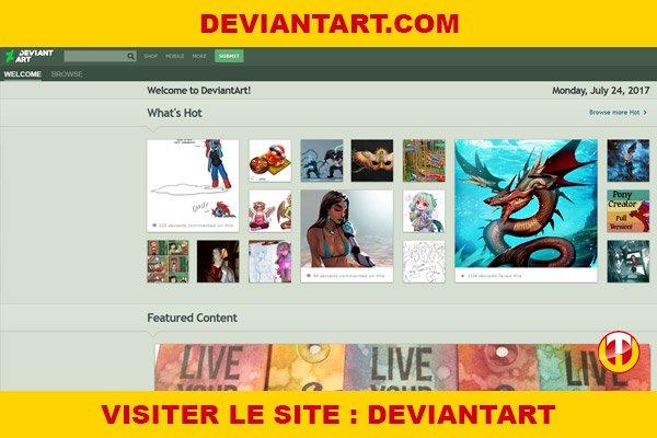 Site internet : Deviantart