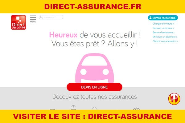 Site internet : Direct-assurance
