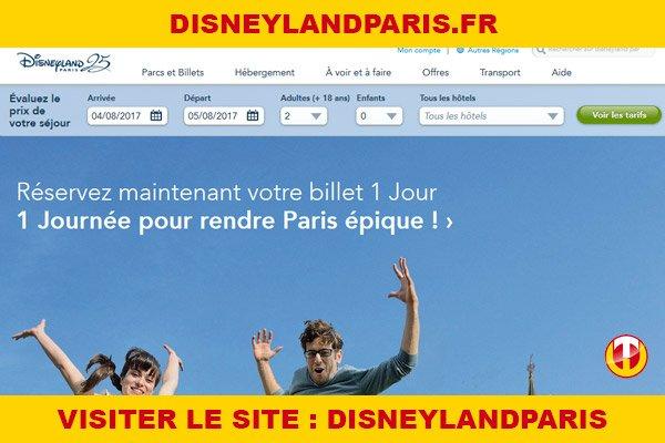 Site internet : Disneylandparis