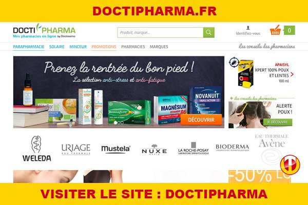 Site internet : Doctipharma