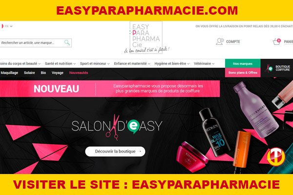 Site internet : Easyparapharmacie