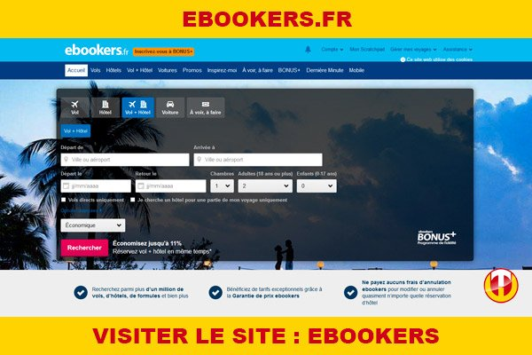 Site internet : Ebookers