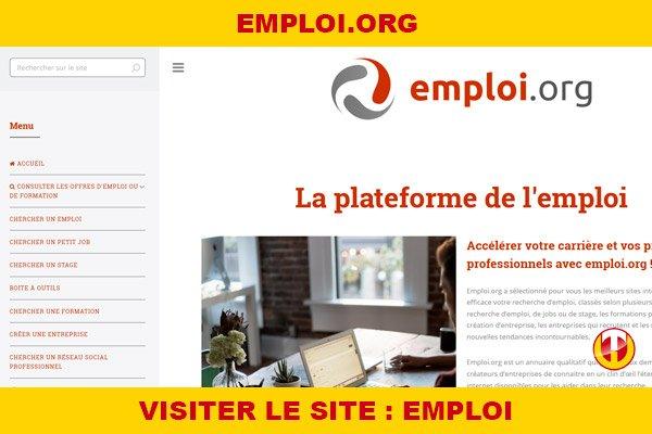 Site internet : Emploi
