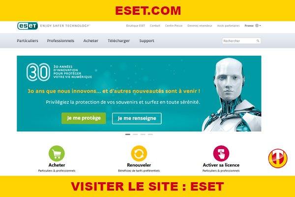 Site internet : Eset
