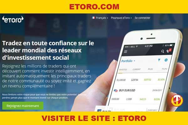 Site internet : Etoro