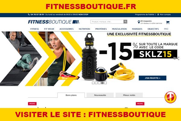 Site internet : Fitnessboutique