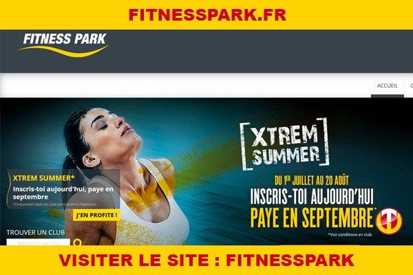 Site internet : Fitnesspark
