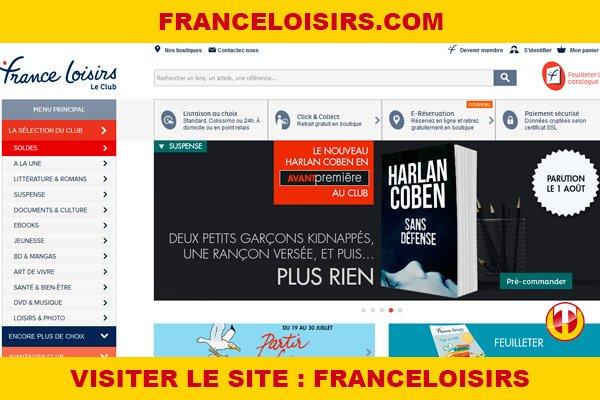 Site internet : Franceloisirs