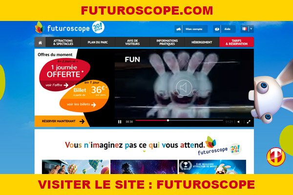 Site internet : Futuroscope