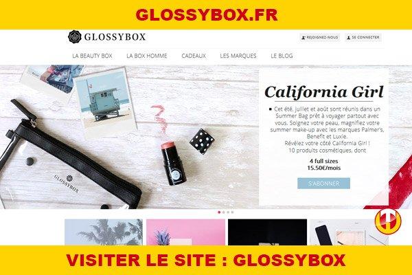 Site internet : Glossybox
