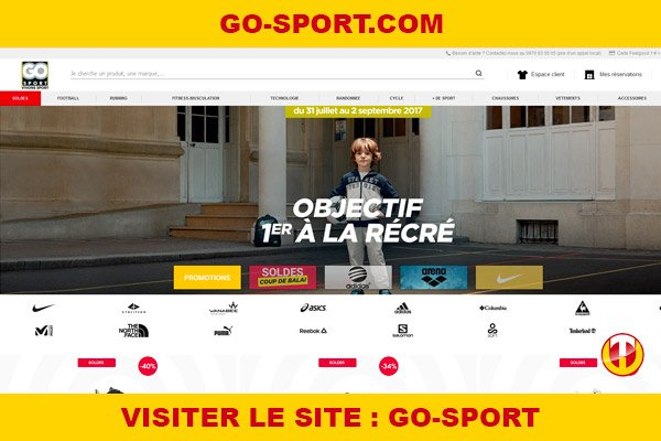 Site internet : Go-sport