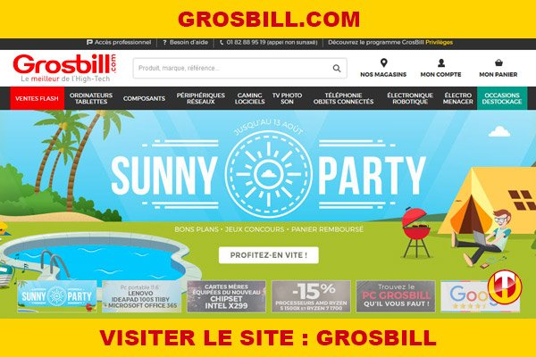 Site internet : Grosbill