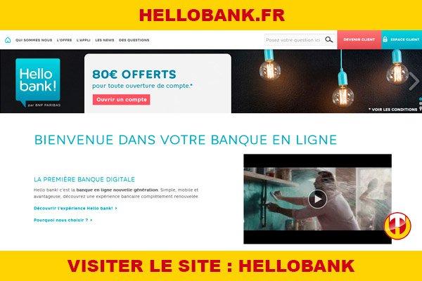 Site internet : Hellobank