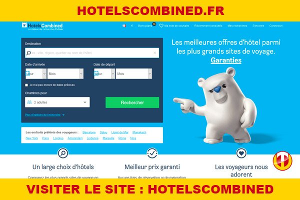 Site internet : Hotelscombined
