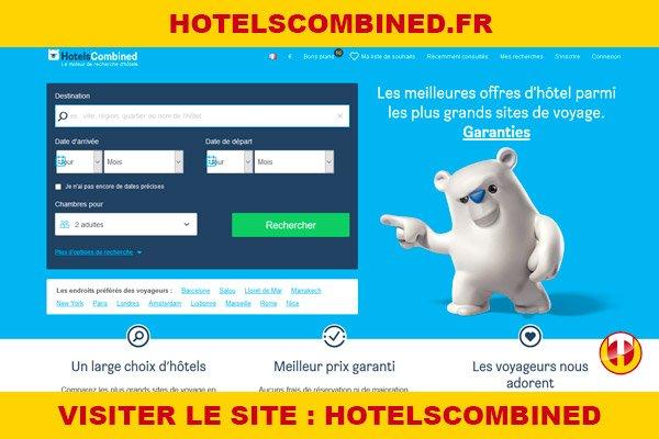 Site internet : Hotelscombined