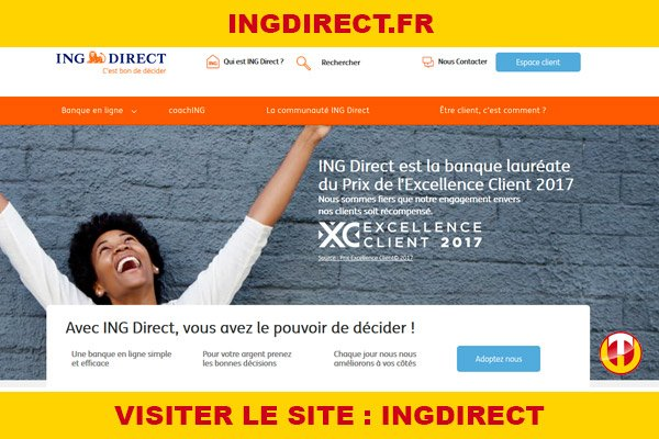 Site internet : Ingdirect