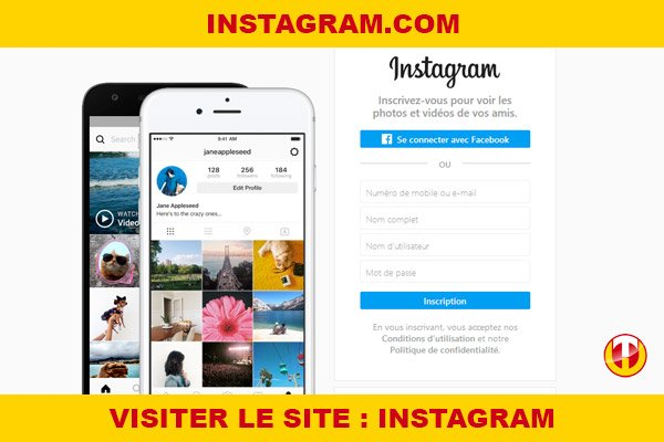 Site internet : Instagram