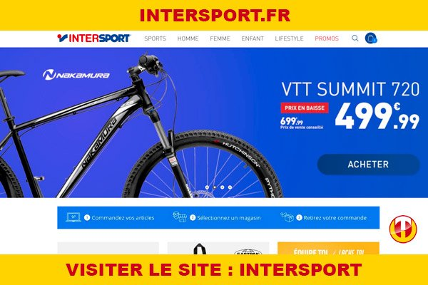 Site internet : Intersport