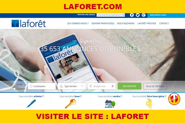 Site internet : Laforet