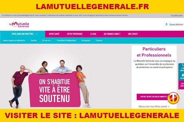 Site internet : Lamutuellegenerale