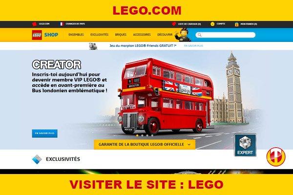 Site internet : Lego