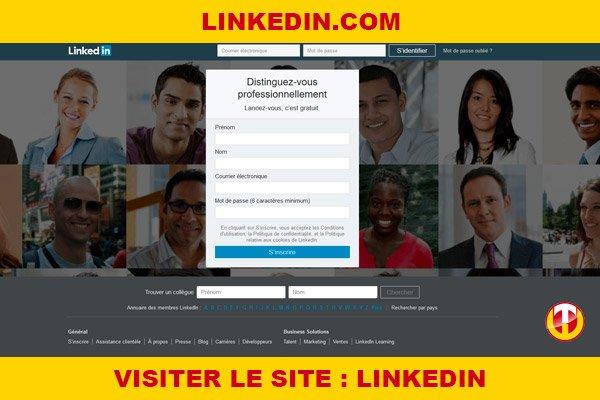 Site internet : Linkedin