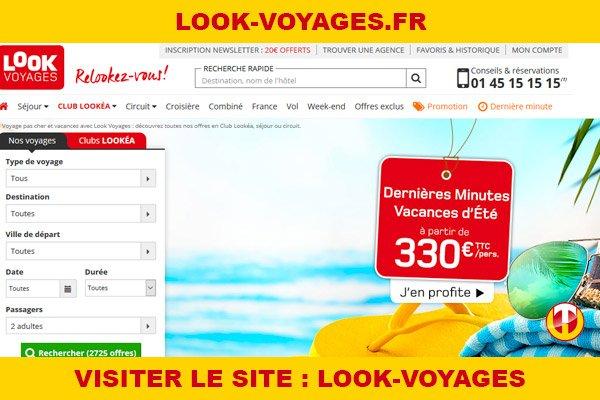 Site internet : Look-voyages