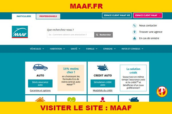 Site internet : Maaf