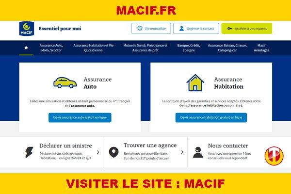 Site internet : Macif