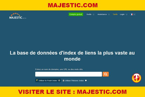 Site internet : Majestic