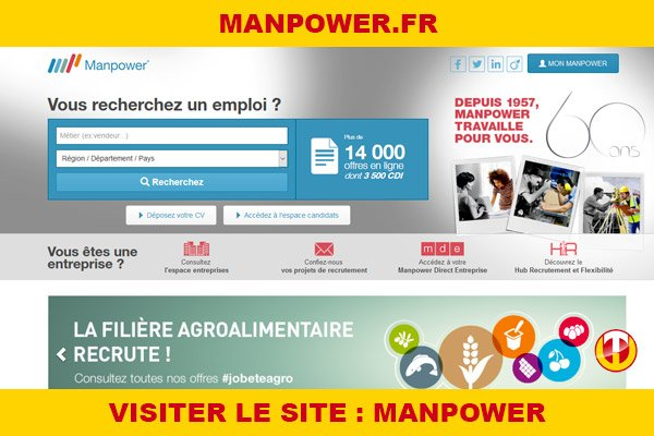 Site internet : Manpower