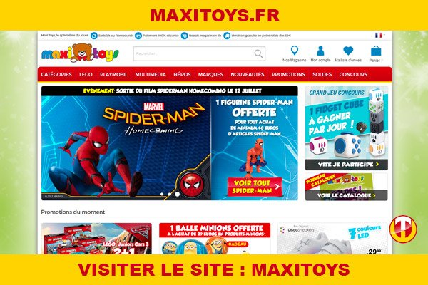 Site internet : Maxitoys