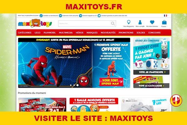 Site internet : Maxitoys