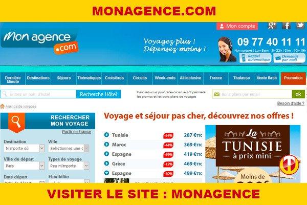 Site internet : Monagence
