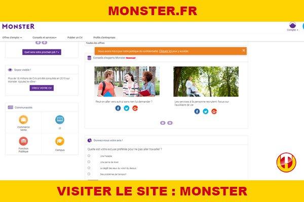Site internet : Monster