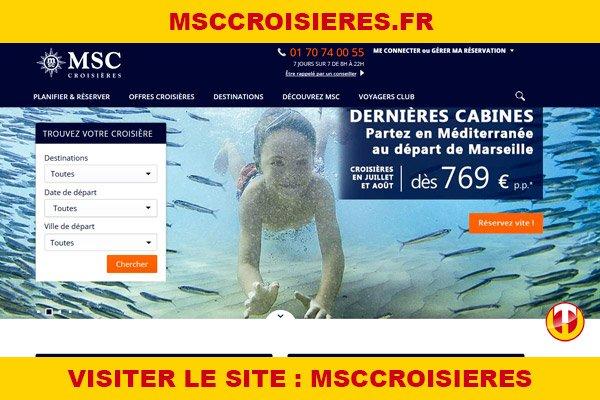Site internet : Msccroisieres